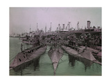 Decommissioned Ships and Submarines Await their Fate Photographic Print by Clifton and Edwin Adams and Wisherd