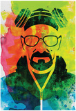 Walter White Watercolor 1 Print van Anna Malkin