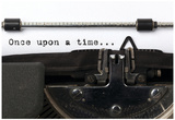 "Words ""Once Upon A Time"" Written With Old Typewriter Posters"