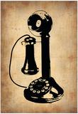 Vintage Phone 2 Posters af NaxArt