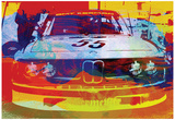 Une BMW de course : aquarelle Affiches
