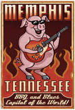 Memphis, Tennessee - Guitar Pig Print