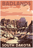 Badlands National Park, South Dakota - Castle Rock Poster