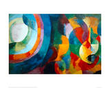 Simultaneous Contrasts: Sun and Moon, 1912-1913 Reproduction procédé giclée par Robert Delaunay
