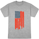 Star and Stripes Peace and Love Flag T-Shirt