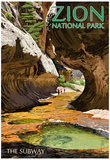 Zion National Park - The Subway Poster