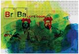 Br Ba Watercolor 1 Plakat av Anna Malkin