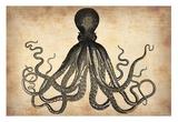 Vintage Octopus Poster af  NaxArt
