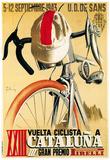 Reklame for cykelløb, på italiensk Poster