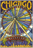 Chicago's Navy Pier and Ferris Wheel Posters