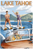 Lake Tahoe, California - Water Skiing Scene Posters