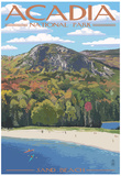 Acadia National Park, Maine - Sand Beach Scene Prints
