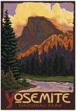 Half Dome, Yosemite National Park, California Poster von  Lantern Press