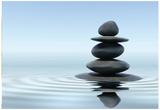 Zen Stones In Water Affiches