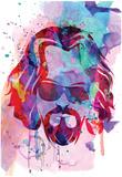 Dude Watercolor Poster von Anna Malkin