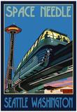 Space Needle and Monorail, Seattle, Washington Prints