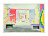 Design for the Interior of the Aviation Pavillion at the World Exhibition in Paris, 1937 Giclée-tryk af Robert Delaunay