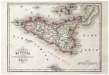 An Old Map Of Sicily And Little Islands Around It Prints