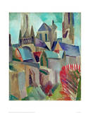 The Towers of Laon Study, 1912 Giclée-tryk af Robert Delaunay