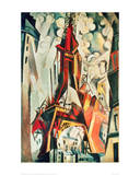Eiffel Tower, 1910 Giclee Print by Robert Delaunay