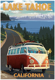 Lake Tahoe, California - VW Coastal Drive Print