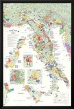 Italy Wine Map Poster Posters