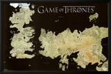 Game of Thrones Horizontal Map Poster