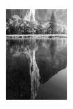 El Capitan Reflected in the Merced River Fotografisk tryk af Greg Winston