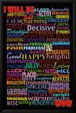 I Will Be (Motivational List) Art Poster Print Print