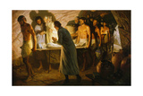 Abraham Walks Beside Body of Sarah into a Cave Tomb Giclee Print by Tom Lovell
