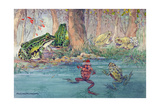A Variety of Toads Can Be Found at the Water's Edge Giclee Print by Hashime Murayama