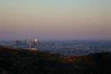 Griffith Park Observatory and Downtown Los Angeles Photographic Print by Steve Winter