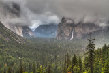 Bridalveil Fall in Evening Light, Yosemite Valley, California Photographic Print by Greg Winston