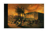A Painting Depicts an Attack on the Ancient City of Persepolis Giclee Print by Tom Lovell
