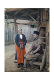 Portrait of a Macedonian Comitadji and His Wife Fotografiskt tryck av Wilhelm Tobien