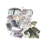 Watercolor of Traveler at Airline Service Counter Giclée-tryk af Gary Hovland