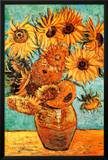 Vincent Van Gogh Vase with Twelve Sunflowers Art Print Poster Photo
