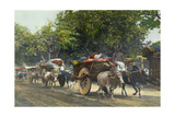 People Arrive to Town with Full Wagons for the Market Giclee Print by William Wisner Chapin