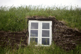 A Window on an Iceland Turf House Photographic Print by Jill Schneider