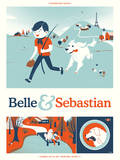 Belle & Sebastian Serigraph by  Delicious Design League