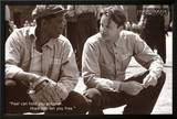 The Shawshank Redemption Movie (Tim Robbins and Morgan Freeman, B&W) Poster Print Prints