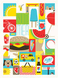 Summer Fun Serigraph by  Delicious Design League