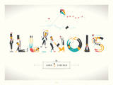Land O Lincoln Serigraph by  Delicious Design League