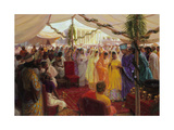 Alexander the Great Celebrates a Mass Marriage in Susa, Persia Giclee Print by Tom Lovell