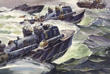 "World War Ii's Fast ""Mosquito Boats"" Launched Torpedos at Close Range Giclee Print by Andre Durenceau"