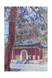 Painting of Two Monks with Rosaries Talking Outside of a Monastery Giclee Print by H. C. and J. H. and Deng White and Bao-Ling
