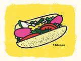 Delicious Chicago Sérigraphie par  Delicious Design League