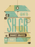 Shakey Graves Serigraph by  Delicious Design League