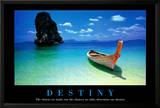 Destiny Boat on Beach Motivational Poster Poster