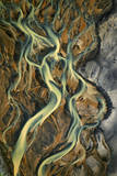 Aerial View. River Delta in the Landeyjarsandur. Iceland Photographic Print by Erlend Haarberg